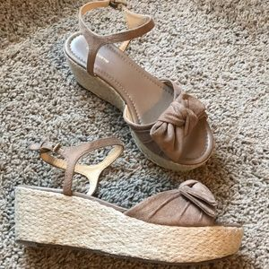 Wedge Bow Sandals